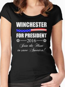 Supernatural SPN 2016 Election Parody Women's Fitted Scoop T-Shirt