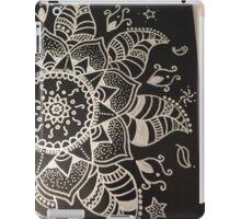 Black and Silver Mandala Design iPad Case/Skin