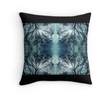 Blue Veil Throw Pillow