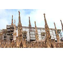 thousands of statues. Duomo de Milano. Photographic Print