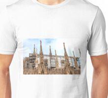 thousands of statues. Duomo de Milano. Unisex T-Shirt