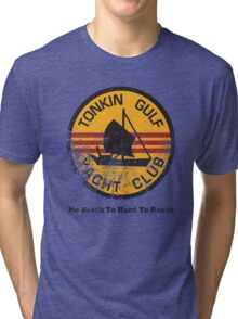 Distressed Vietnam Yacht Club Tri-blend T-Shirt