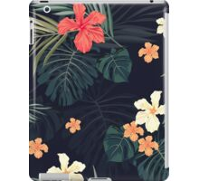 Dark tropical flowers iPad Case/Skin