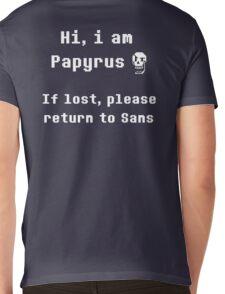 I am Papyrus, if lost return to Sans ( back ) Mens V-Neck T-Shirt