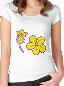Watermelon Blossoms Women's Fitted Scoop T-Shirt