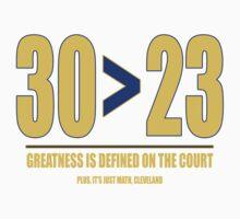 30 > 23 | Curry > James Kids Tee