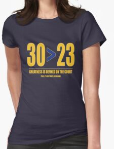 30 > 23 | Curry > James Womens Fitted T-Shirt