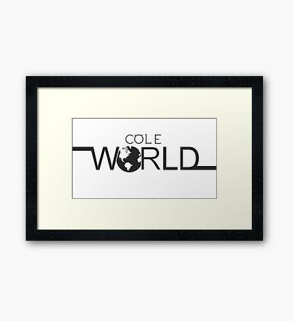 Cole world Framed Print