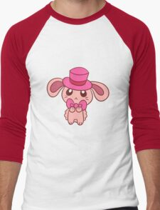 Tophat Bunny Men's Baseball ¾ T-Shirt