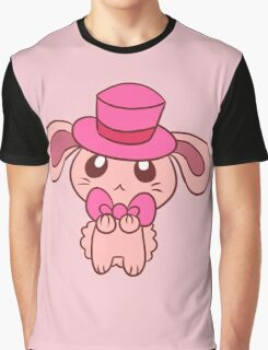 Tophat Bunny Graphic T-Shirt