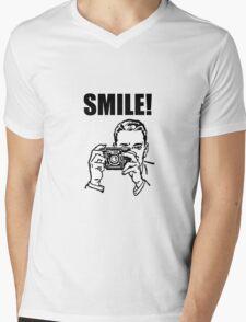 Vintage Camera Smile Mens V-Neck T-Shirt