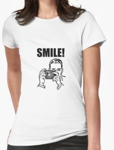 Vintage Camera Smile Womens Fitted T-Shirt
