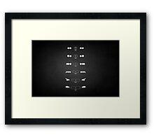 5 Heritage, 1972-Present day (E12, E28, E34, E39, E60, F10) Grungy vignette background Framed Print