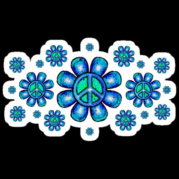 Peace Flowers  by Jan Landers
