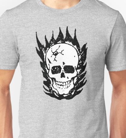 Cracked and Blazing Skull T-Shirt