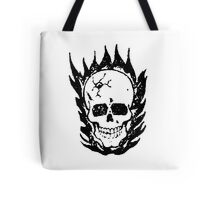 Cracked and Blazing Skull Tote Bag