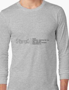 Torch - A SCIENTIFIC COMPUTING FRAMEWORK FOR LUAJIT Long Sleeve T-Shirt