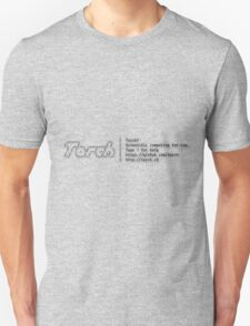 Torch - A SCIENTIFIC COMPUTING FRAMEWORK FOR LUAJIT Unisex T-Shirt