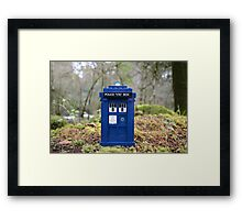 Travel's With The Tardis Framed Print