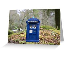 Travel's With The Tardis Greeting Card