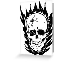 Cracked and Blazing Skull 02 Greeting Card