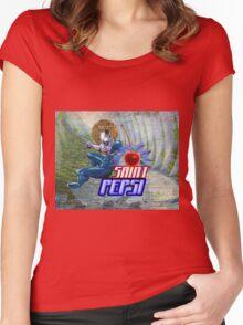 Saint Pepsi Vaporwave Ocean Paradise Women's Fitted Scoop T-Shirt