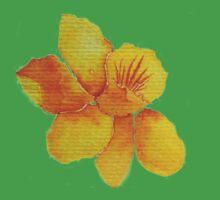 Watercolor painted daffodil Kids Tee
