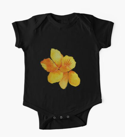 Watercolor painted daffodil One Piece - Short Sleeve