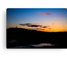 Sunset at Scrabo Canvas Print