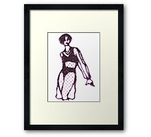 x-ray girl Framed Print