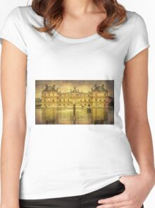 Luxembourg Palace Paris Women's Fitted Scoop T-Shirt
