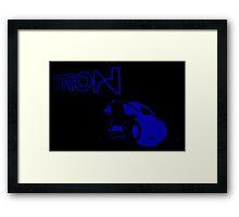 Tron Art Design:Black Version Framed Print