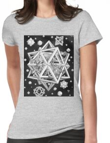 MC Escher Halftone Womens Fitted T-Shirt