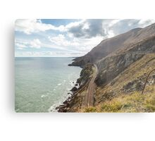 Cliff walk Bray to Greystone Metal Print