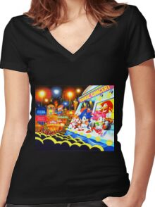 Sonic the Hedgehog live in concert! Women's Fitted V-Neck T-Shirt