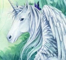 Emerald Green Forest Unicorn Sticker