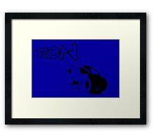 Tron Art Design:Blue Version Framed Print