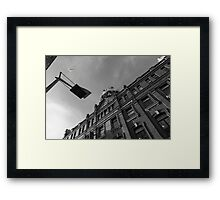 Dublin city view from a different angle Framed Print