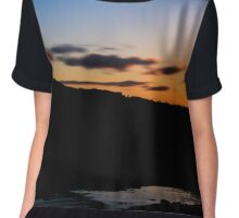 Sunset at Scrabo Chiffon Top