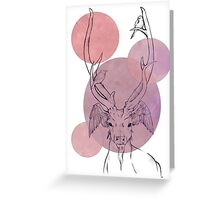 Deer of a feather Greeting Card