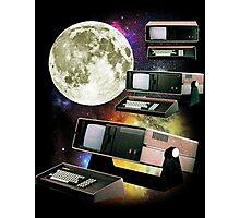 Computers in Space (Vintage Geek) Photographic Print