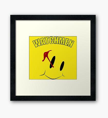 Watch Comedian pin Framed Print