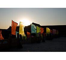 Flags @ Forbidden City, Beijing Photographic Print