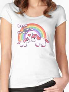Cute Unicorn Mom Women's Fitted Scoop T-Shirt