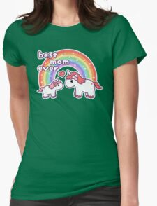 Cute Unicorn Mom Womens Fitted T-Shirt
