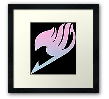Pink Blue Gradient Fairy Tail Logo Framed Print