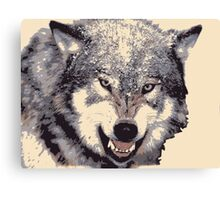 Wolf head in 5 colors Canvas Print