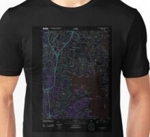 USGS TOPO Map Rhode Island RI East Greenwich 20120604 TM Inverted Unisex T-Shirt