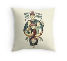 Make Way For The Raven King Throw Pillow