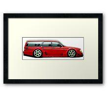Volvo Wagon Racecar Framed Print